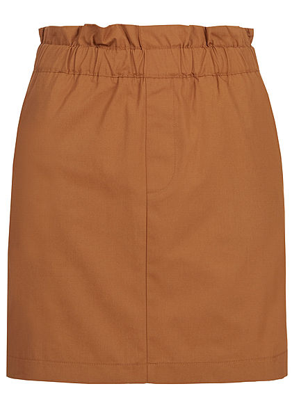 ONLY Damen Short Paperbag Skirt 2-Pockets argan oil braun