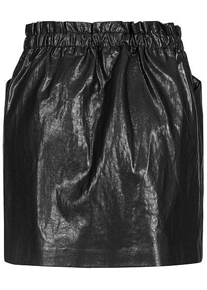 ONLY Damen Faux Leather Skirt 2-Pockets schwarz