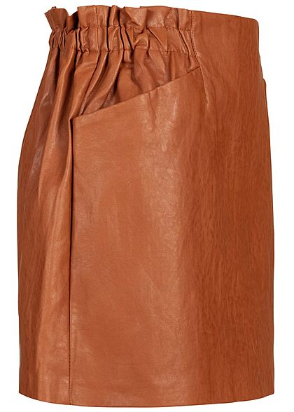 ONLY Damen Faux Leather Skirt 2-Pockets ginger bread braun