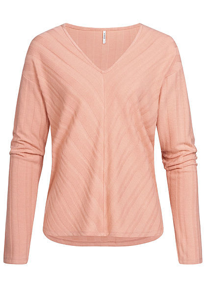 ONLY Damen V-Neck Sweater misty rosa