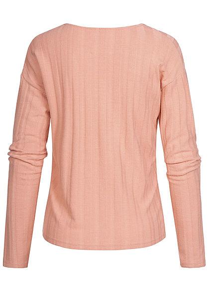 ONLY Damen V-Neck Sweater misty rosa
