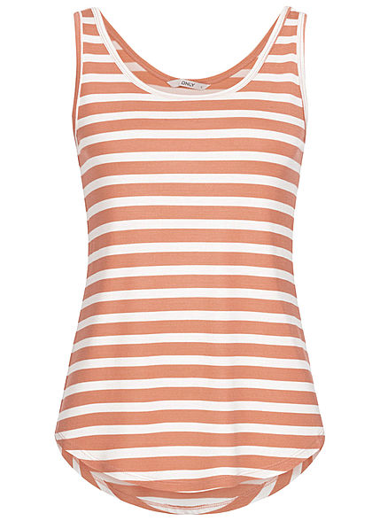 ONLY Damen Striped Tank Top old rosa weiss