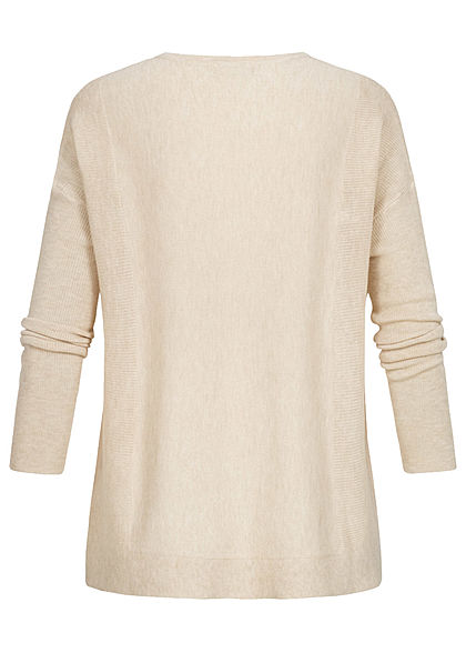 JDY by ONLY Oversized Knit Pullover sandshell beige