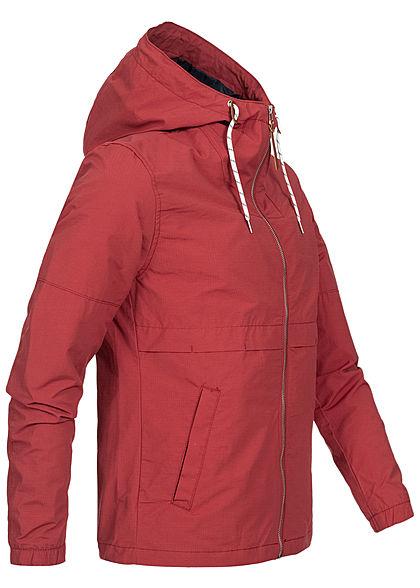 Jack and Jones Herren Light Zip Jacket 2-Pockets brick rot