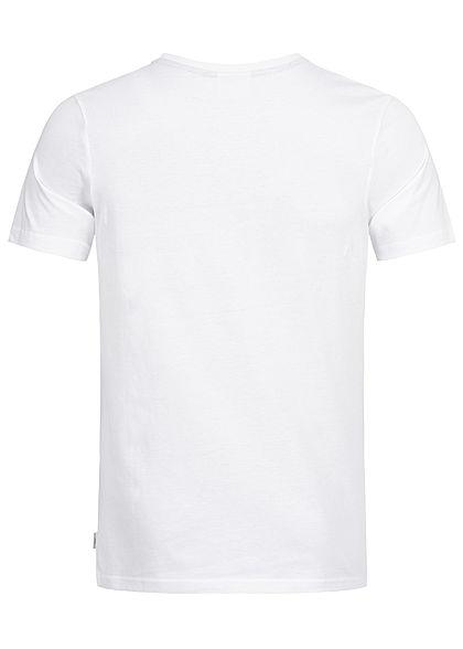 Jack and Jones Herren T-Shirt Circle Core Print weiss pink