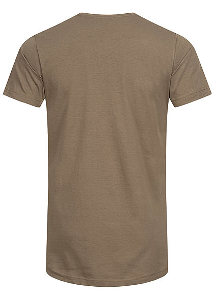 Urban Classics Herren Basic Basic Shaped Long T-Shirt army grün