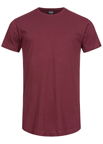 Seventyseven Lifestyle TB Herren Basic Shaped Long T-Shirt port bordeaux rot