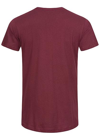 Urban Classics Herren Basic Shaped Long T-Shirt port bordeaux rot