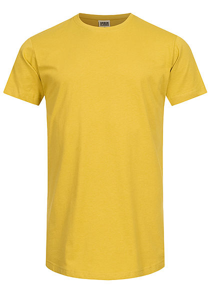 Seventyseven Lifestyle TB Herren Basic Shaped Long T-Shirt lemon mustard gelb