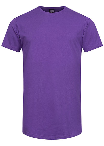 Seventyseven Lifestyle TB Herren Basic Shaped Long T-Shirt ultra violett