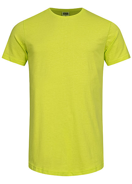Seventyseven Lifestyle TB Herren Basic Shaped Long T-Shirt frozen gelb
