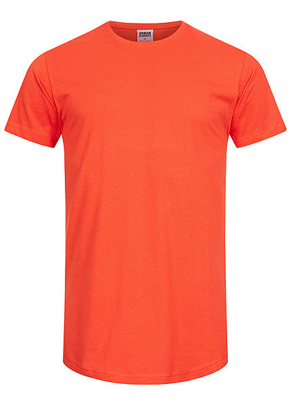 Seventyseven Lifestyle TB Herren Basic Shaped Long T-Shirt blood orange
