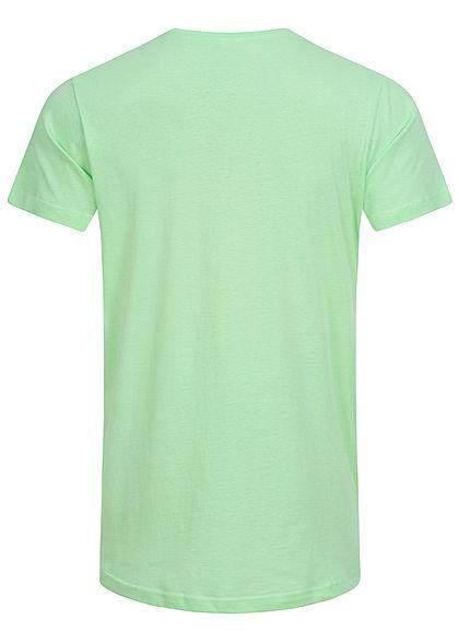 Urban Classics Herren Basic Shaped Long T-Shirt neo mint grün