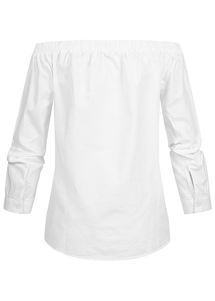 ONLY Damen 7/8 Sleeve Off-Shoulder Blouse Shirt NOOS cloud dancer weiss