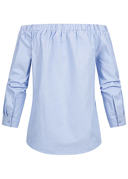 ONLY Damen 7/8 Sleeve Off-Shoulder Blouse Shirt NOOS celestial blau denim