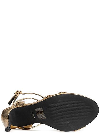 ONLY Damen Strap High Heel Sandals gold