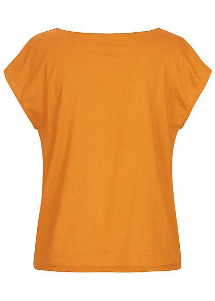 ONLY Damen Blouse Mix Top golden oak orange