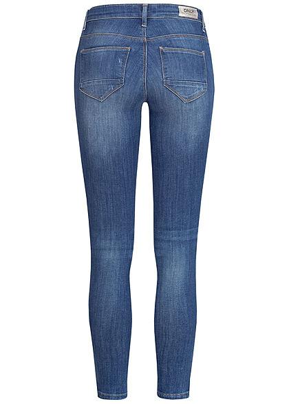 ONLY Damen Ankle Skinny Jeans 5-Pockets NOOS Zipper medium blau denim