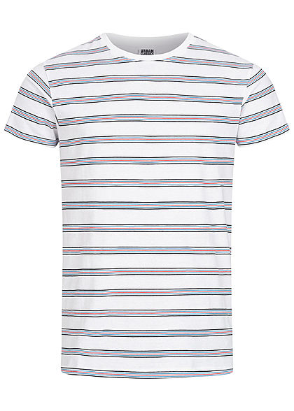 Seventyseven Lifestyle TB Herren Multicolor Striped T-Shirt weiss multicolor