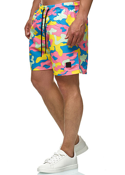 Seventyseven Lifestyle TB Herren Swim Shorts Camo Design multicolor