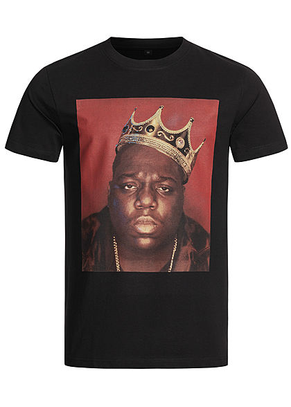 Merchcode TB Herren T-Shirt Notorious Big Crown Print schwarz