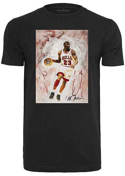 Merchcode TB Herren T-Shirt Michael Jordan Playing Print schwarz