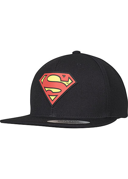 Merchcode TB Snapback Cap Superman Rubberpatch schwarz