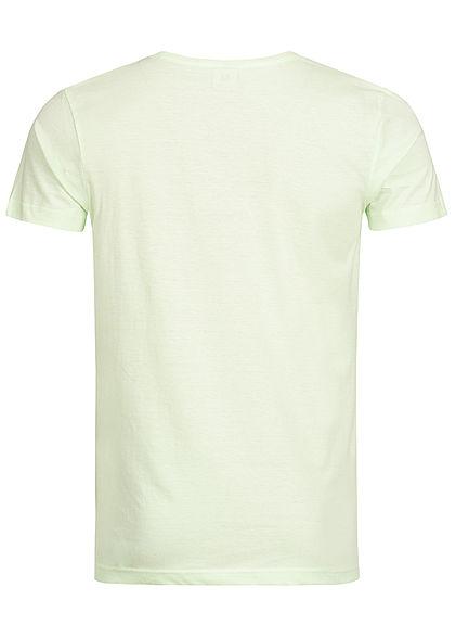 Eight2Nine Herren T-Shirt Waikiki Print By Sublevel hell grün