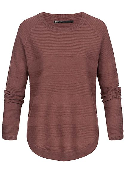 ONLY Damen Knit Sweater Pullover NOOS wild ginger rot