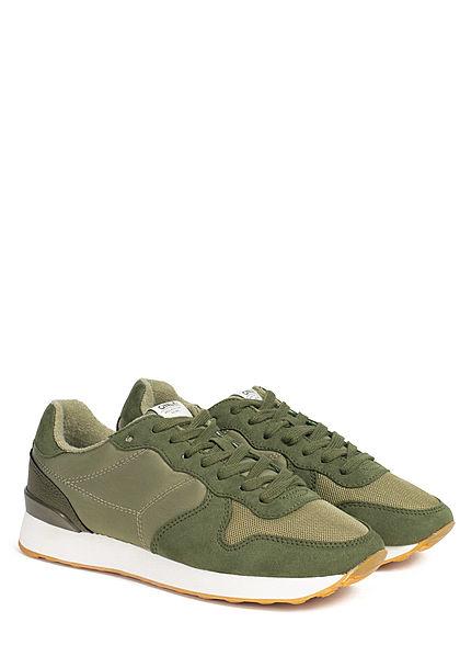 ONLY Damen Schuh 2-Tone Sahel Sneaker kahki grün