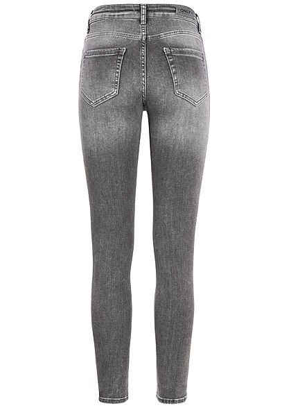 ONLY Damen Ankle Skinny Jeans 5-Pockets grau denim