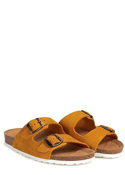 ONLY Damen Slider Sandals mustard gelb