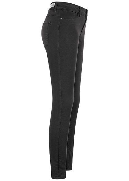 JDY by ONLY Damen Skinny Jeggings Pant 2-Pockets schwarz