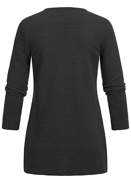 ONLY Damen NOOS 7/8 Arm Ripped Cardigan schwarz