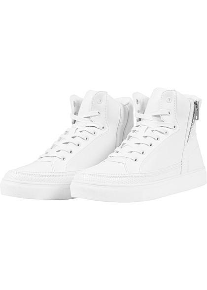 Seventyseven Lifestyle TB High Top Sneaker Zipper weiss