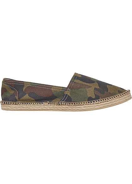 Seventyseven Lifestyle TB Espadrilles Canvas Slipper Camouflage Look wood camo