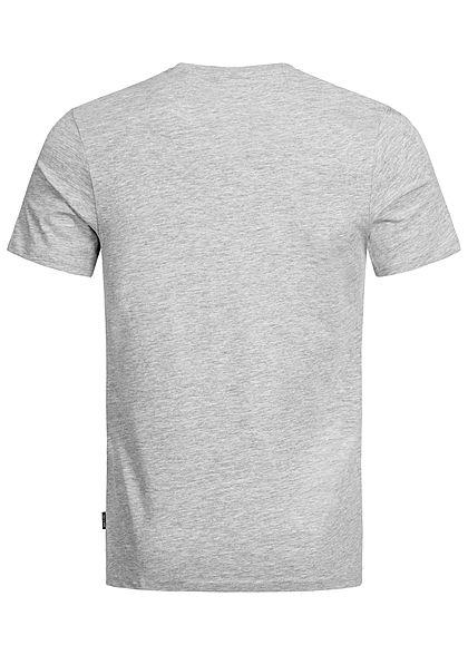 ONLY & SONS Herren Frontprint T-Shirt Regular Fit hell grau melange