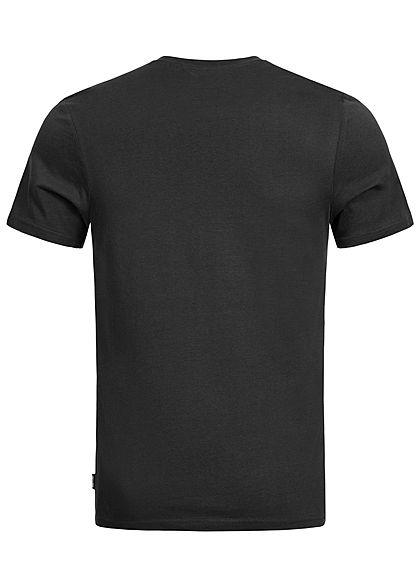 ONLY & SONS Herren Frontprint T-Shirt Regular Fit phantom schwarz