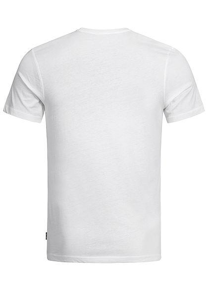 ONLY & SONS Herren Frontprint T-Shirt Regular Fit weiss