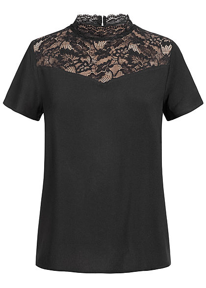 ONLY Damen Lace Blouse Shirt NOOS schwarz