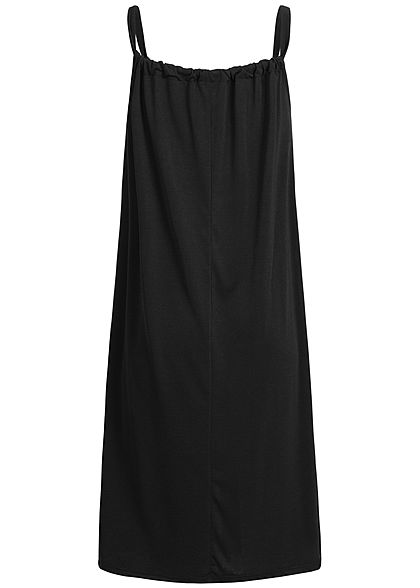 Styleboom Fashion Damen A-Line Beach Strap Dress schwarz