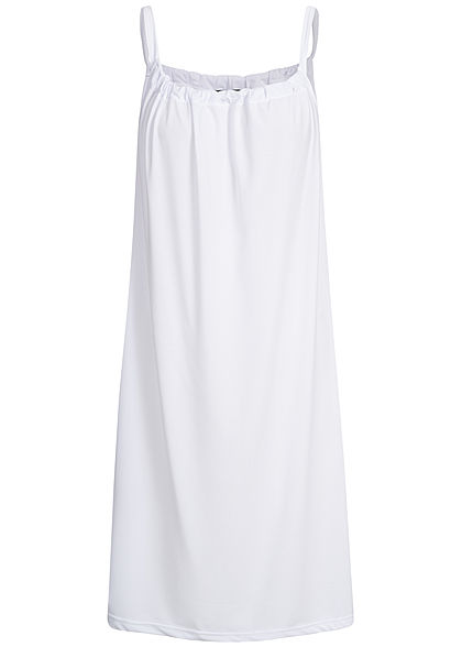 Styleboom Fashion Damen A-Line Beach Strap Dress weiss