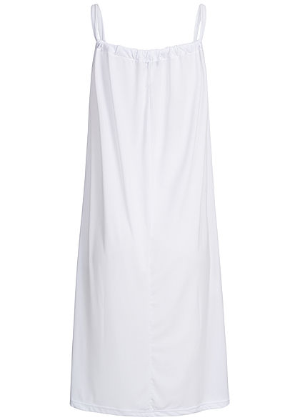 Styleboom Fashion Damen A-Line Beach Strap Dress weiss