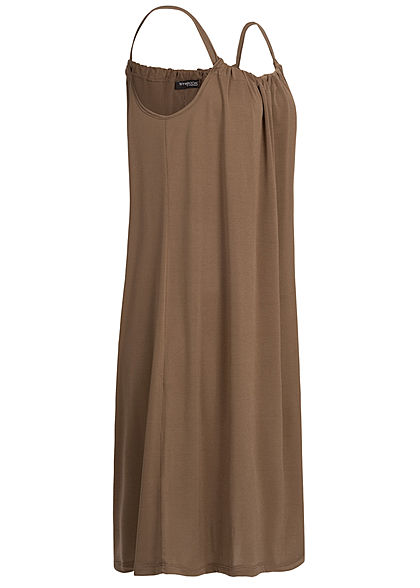 Styleboom Fashion Damen A-Line Beach Strap Dress fango braun