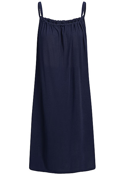Styleboom Fashion Damen A-Line Beach Strap Dress navy blau