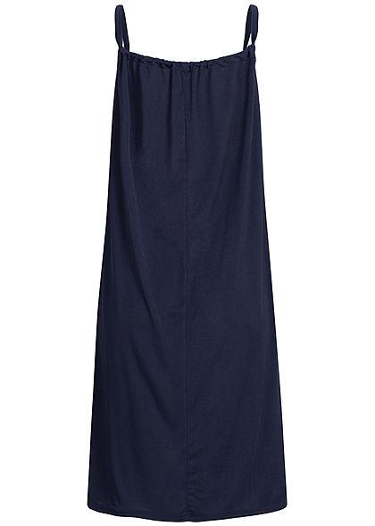 Styleboom Fashion Damen A-Line Beach Strap Dress navy blau