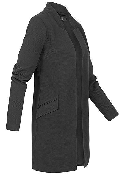 ONLY Damen Coatigan Blazer 2-Pockets schwarz melange