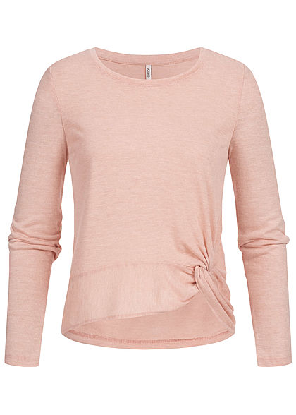ONLY Damen Twist Front Shirt misty rosa