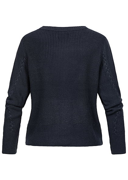 ONLY Damen Cable Knit Pullover night sky navy blau