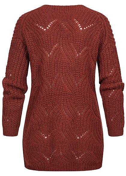 ONLY Damen Oversized V-Neck Knit Pullover merlot bordeaux